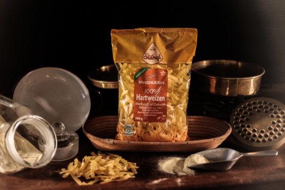 Hartweizen Bandnudeln 500g Nudeln aus der Steiermark - Stangl Nudeln - Produzent fuer Teigwaren aus Oesterreich