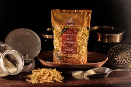 Hartweizen Bandnudeln gewellt 500g Nudeln aus der Steiermark - Stangl Nudeln - Produzent fuer Teigwaren aus Oesterreich