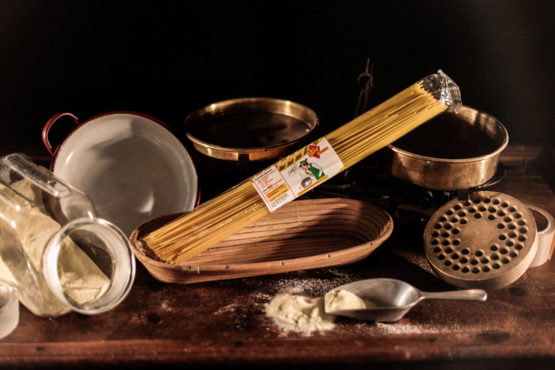 Hartweizen Spaghetti lang 500g Nudeln ohne Gentechnik aus der Steiermark - Stangl Nudeln - Produzent für Teigwaren aus Österreich